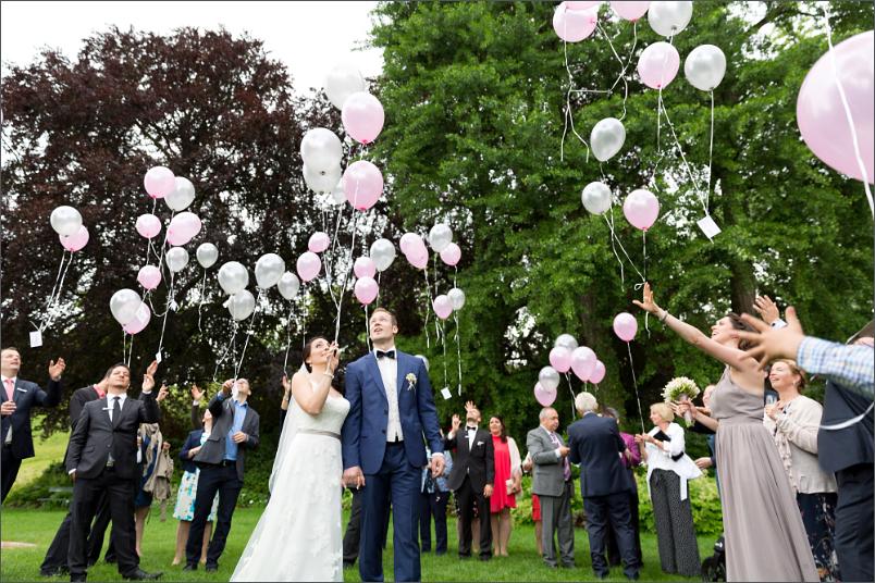 Apéro Basel - Merian Villa - Luftballons - Hochzeitsfotograf
