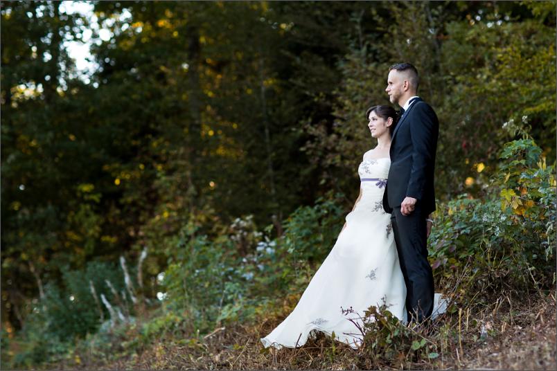Brautpaar Fotoshootin beim Paffenberg in der Nähe von Zell im Wiesental