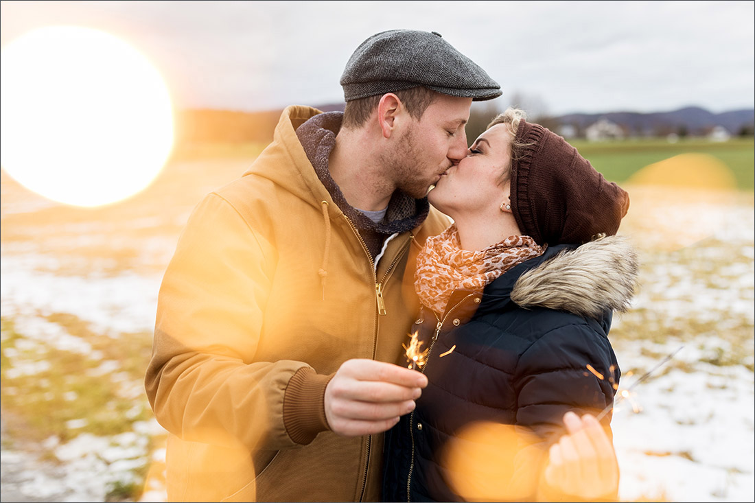 Paar Fotoshooting - Seltisberg / Liestal - Hochzeitsfotograf Lörrach - Wunderkerzen