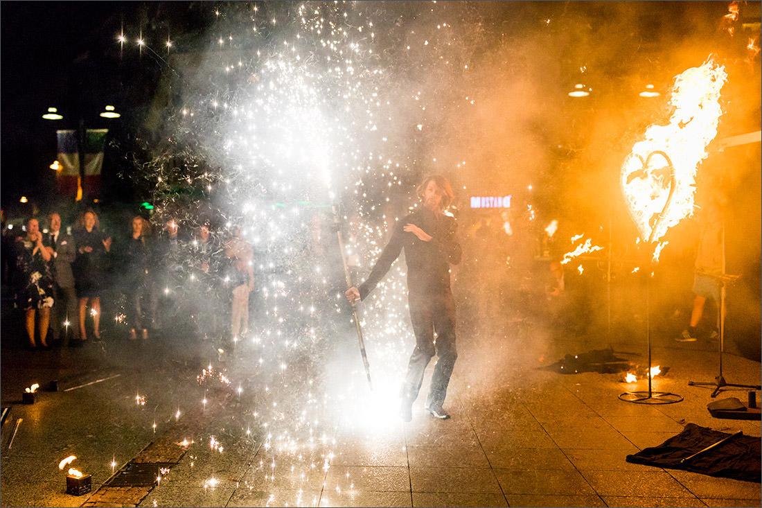 Feuerkünstler Hochzeit in Lörrach