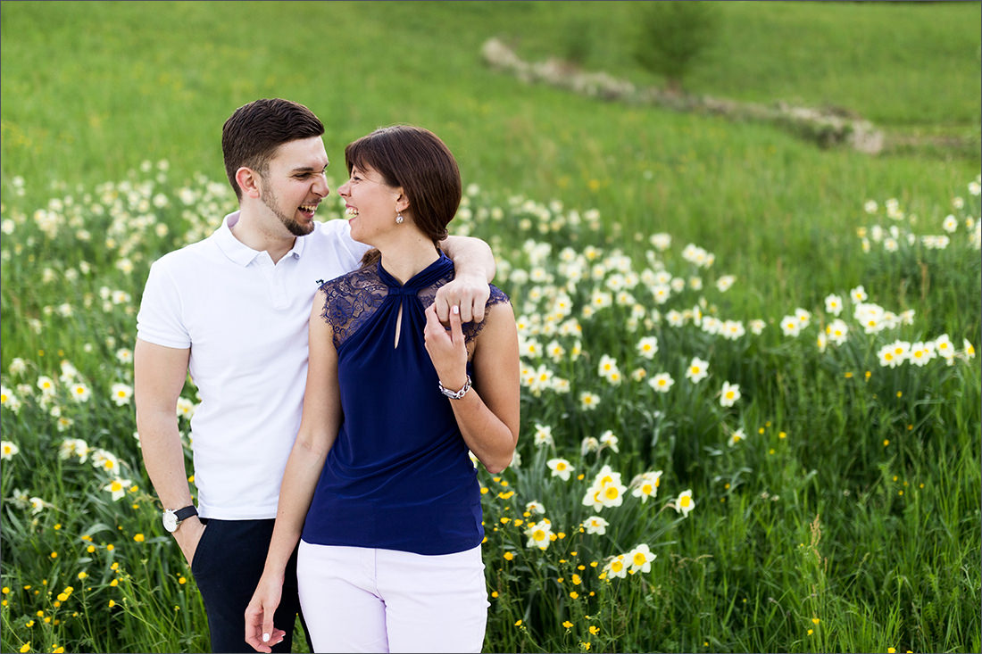 Verlobungs Fotos in den Merian Gärten Basel
