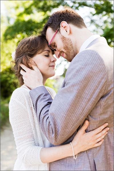 Brautpaar Fotoshooting auf dem Inseli in Rheinfelden