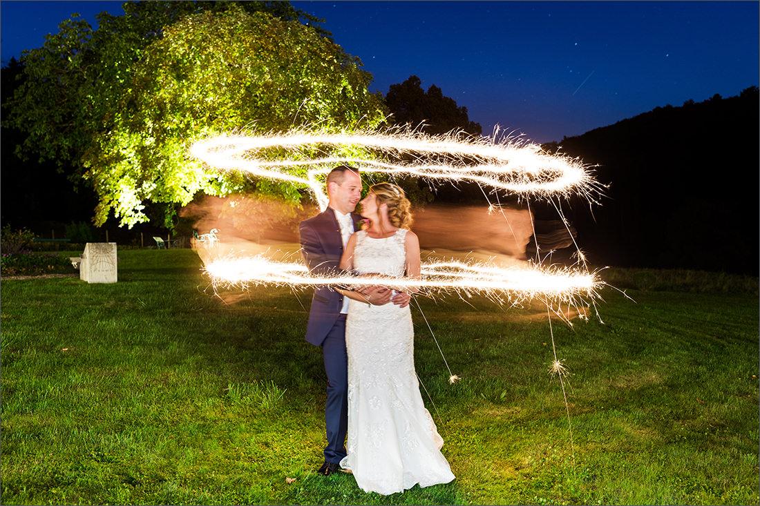 Wunderkerzen Hochzeitsbild